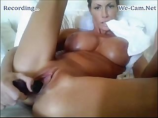 M i l F bigtits Camgirl fuck toys nonstop in a hour on webcam