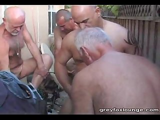 Outdoor fun with older men