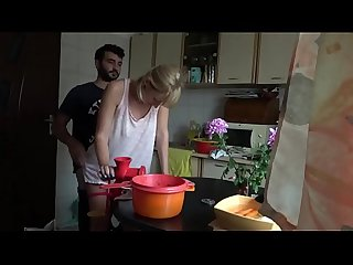 Russian Mature Wife Gets Fucked While Cooking By Young Guy