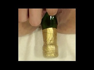 Pervert with champagne bottle deep in gaped pussy raven grey glassdeskproductions