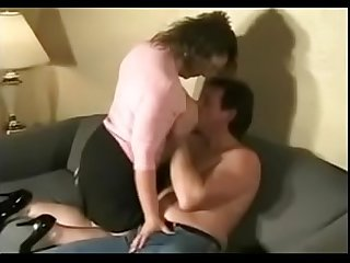 Beautiful huge tits wife sucking and fucking neighbor s cock