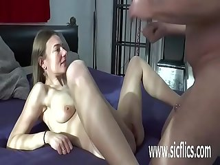 Teen pussy fisting by two grizzly old perverts