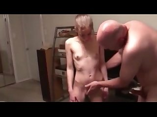 Old Guy Fuck's Euro Young Teen Up The Arse/Facial Cum Shot