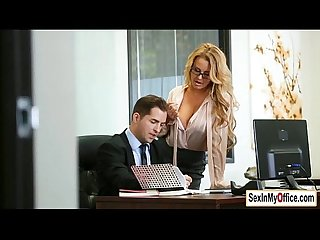 Busty secretary corinna blake gives her boss and Blowjob
