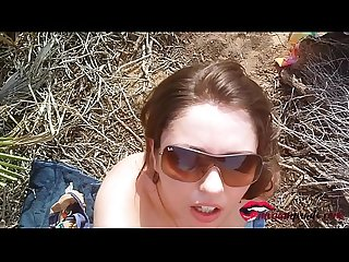 Miriam Prado horny teen fucks a good cock on a nudist beach