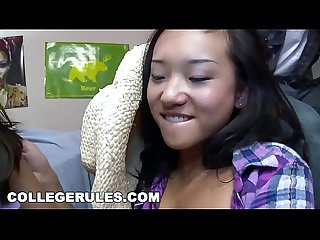 College rules it s a wild college orgy featuring asian cowgirl alina li riding dick