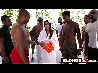 Halloween Babe Melissa Moore Gets Very Special Interracial Blowbang Treat
