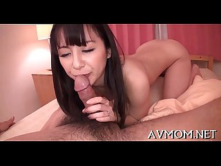 Asian mother i d like to fuck loves engulfing balls