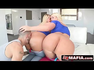 Lucky Guy Gets Two Curvy Beauties - Karen Fisher & Julie Cash