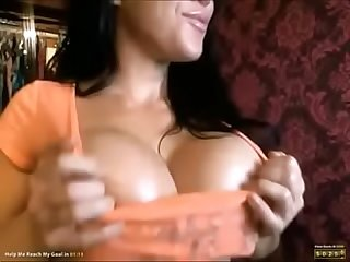 Big boobs MILF oiled cam - www.thesluttycams.com