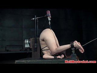 Restrained submissive tormented by maledom