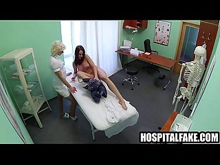 Hot brunette patient gets her pussy licked by a nursegue 720 3