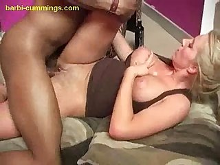 Black Creampie in White Pussy
