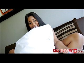 Caught My Black Step Sister Masturbating In Mom's Room - SisLovesMeHD.com