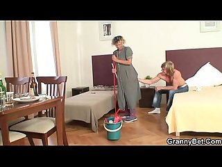 Mature housemaid gets her pussy filled with cock
