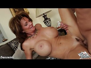 Chesty milf pornstar riding a big dick