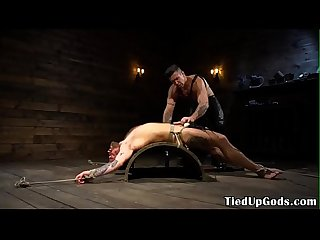 Inked bdsm dom cocksucks and jerks sub