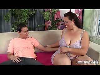 Cock hungry bbw angelina gets her pussy reamed hard