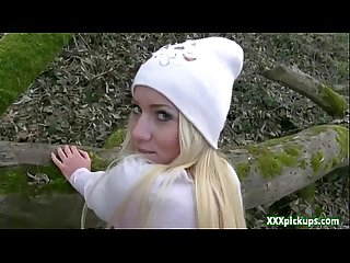 Super cute Czech babe gets pick up by a stranger and fucked for cash 15