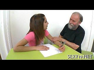 Teacher tasting a chaste slit