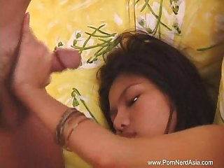Amateur asian teen bj happy