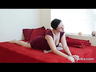 Busty jenny masturbating her cunt