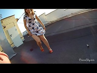 Hard pov action on a roof