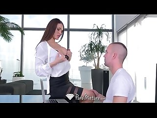 PureMature Big dick fuck with busty brunette MILF Kitana Lure