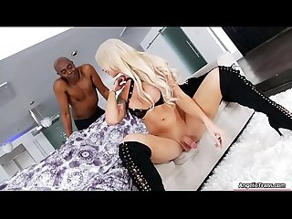 Busty Tbabe Aubrey Kate throats and barebacked by black cock