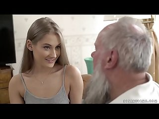 Teen beauty vs old grandpa - Tiffany Tatum and Albert
