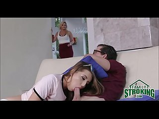 Step sister seduces nerdy brother familystroking com