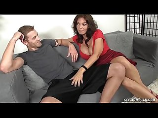 Hot Milf sucks a young dude s boner
