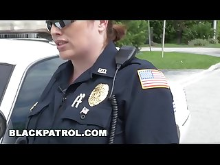 BLACK PATROL - Hands Up, DO Shoot... Your Load All Over My Cop Face!