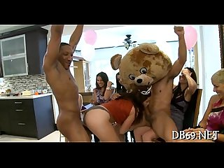Dancing bear birthday party with