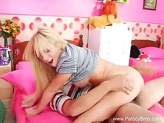 Brother fcks blonde teen sister