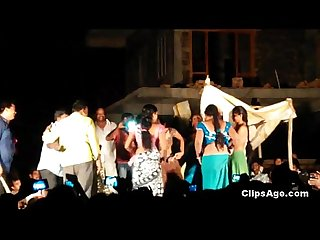 Public desi Telugu natukatti featuring local randis nude on stage