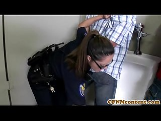 Dana dearmond hot cop gets facialized
