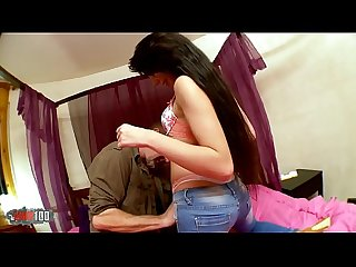 French teen Kimber Delice fucking with older man
