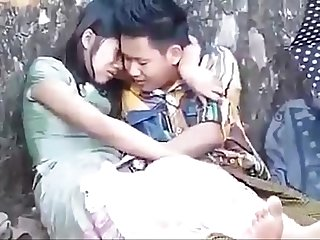Myanmar spying young couple outdoor sex 10
