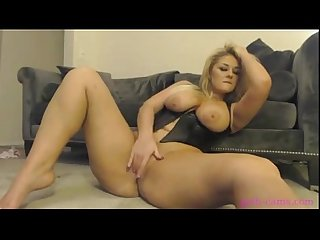 Blonde masturbating on webcam