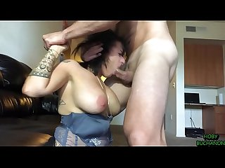 Big tits milf face fucked worships balls licks asshole pukes gets spit on