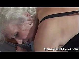 Hairy horny granny in Sauna fuck