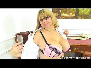 Milf Alexa is Britain's best secretary