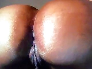 Creamalicious fucks asshole w/ dildo on webcam