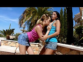 Free lesbian porn sweet pussy is caressed