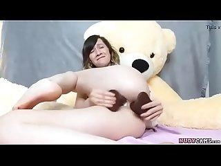 Nasty teen fucking her ass
