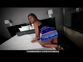 Teenyblack sexy ebony chanell heart fucked in hotel
