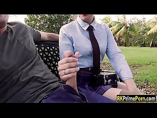 Photography student fucked in the park