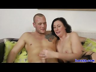 Glamcore british milf slut crazy on cock