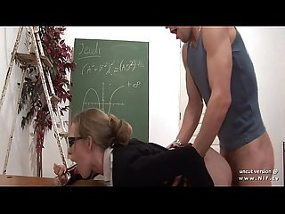 Naughty french teacher hard sodomized and fist fucked at school